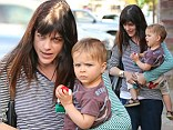 A makeup free Selma Blair stepped out in Studio City to have dinner with her little man Arthur