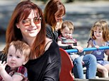 Alyson Hannigan takes the girls for a day in the park after picking up Satyana at school