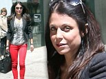 Showing Jason what he's missing! Bethenny Frankel turns heads in red skinny jeans and snakeskin top on lunch outing
