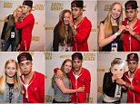 Playing the nice guy! Justin Bieber tries to stay in fans' good graces as he poses with female admirers after Stockholm drug bust