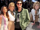 'I thought I would die and this would never happen': Stars come out in support of Jane Fonda as she hand, shoeprints next to dad Henry Fonda's on Hollywood Walk Of Fame