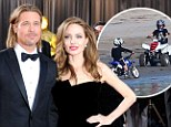 'It's illegal': Humanitarians Brad Pitt and Angelina Jolie come under fire for 'damaging the environment' after he teaches brood to ride motorbikes on the beach