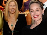 How to age sexily: Barbara Streisand, 71, looks incredible in plunging gown while Sharon Stone, 55, apes Cruelle De Vil