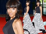 Scandalously gorgeous! Kerry Washington displays her toned body in backless gown White House Correspondents' Dinner