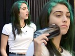 She did it first! Lourdes Leon dyes a bright green streak in her hair, continuing her alternative flair... but mother Madonna cannot complain, she went pink in the 80's