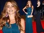 Vampy stars Sharon Stone and Sofia Vergara cover up in maxi-gowns for White House Correspondents' Dinner