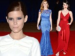 Red, white and blue! TV darlings Constance Zimmer, Kate Mara and Connie Britton show their patriotic colours at White House Correspondents' Dinner