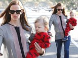 No task too small! Jennifer Garner single-handedly totes son Samuel as the pair wrap up a busy day around Los Angeles