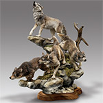 Collectible Wolf Figurine: Mystic Hunters - Dramatic Collectible Wolf Figurine a Moving Tribute to Mystic Guardians of the Night! Exclusive Wildlife Sculpture Home Decor
