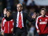 I'm sorry: Paolo Di Canio held his hands up after the game and apologised for an embarrassing show