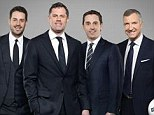 The team: Jamie Carragher will join Jamie Redknapp, Gary Neville and Graeme Souness at Sky