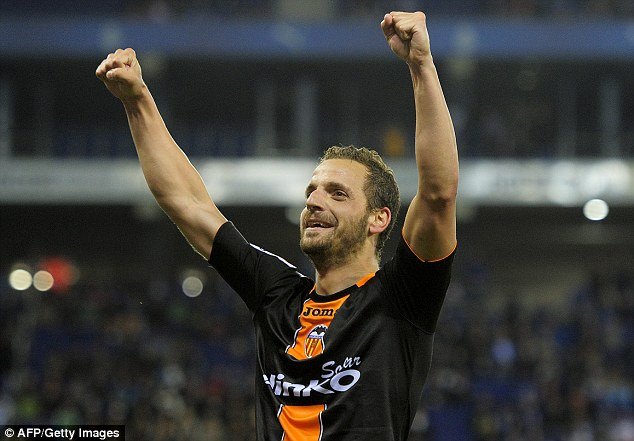Lane-bound? Tottenham could be lining up a move for Valencia striker Roberto Soldado