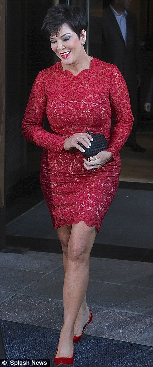 Keeping up: She was leaving her hotel to attend the E! Upfronts