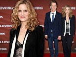 Still going strong: Kyra Sedgwick supported her husband Kevin Bacon at a screening of his television show The Following in North Hollywood, on Monday Night