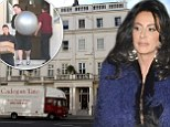 Nancy Dell'Olio moves her stuff - including her exercise ball - out of Sven-Goran Eriksson's luxury flat after settling legal battle