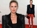 Devilish diva! Nicky Hilton struts her sexy stuff in black and red leather ensemble to attend film premiere