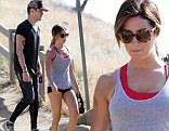 Ashley Tisdale shows off her figure in a tiny pair of hot pants while hiking with her boyfriend, Christopher French in the Hollywood Hills