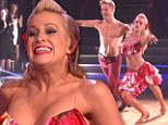 Too hot for clothes! Kellie Pickler nails her sexy samba with topless dance partner Derek