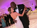 Always and forever: Newlyweds Michael Jordan and Yvette Prieto took their first spin around the dance floor as married couple at the Bear's Club in Jupiter, Florida Saturday