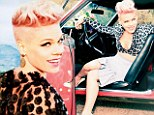 'Joey Fatone was in love with me': Pink recalls ice cream date with 'N Sync star as she shows some skin in flirty photo shoot