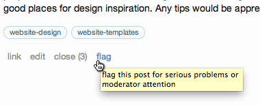 flag this post for serious problems or moderator attention