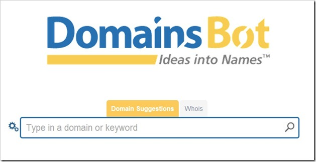 DomainsBot 6 Domain Name Suggestion Tools