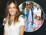 Sarah Jessica Parker drops off her twins in jeans...then dazzles in embroidered frock at AOL event for her new ballet series