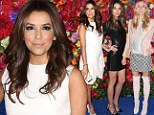 Still managing to stand out! Diminutive Eva Longoria dazzles in bright white as she's joined by leggy supermodels Lily Aldridge and Jessica Hart at fashion event