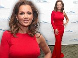 Ravishing in red: Vanessa Williams, 50, is a knockout straight out of the crimson corner at New York gala event