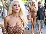 Has Courtney gone too far? Stodden shocks fellow diners as she heads to upscale eatery The Ivy in a tiny leopard print dress that fails to cover her