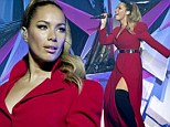 Leona Lewis shows a bit of leg