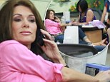 Real Housewives relax: Lisa Vanderpump enjoyed a day of pampering at a nail salon in Beverly Hills, California on Monday
