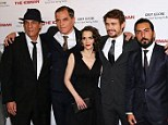 A rose among seven thorns! Winona Ryder is surrounded by her male co-stars at the New York screening of her new movie The Iceman on Monday night