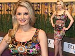 Back to mini dresses already! Holly Madison flaunts her fabulous and slim post-baby body in a colourful frock at Nobu opening