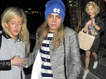 Cara Delevingne, Ellie Goulding and Rita Ora paint the town red together