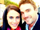 Moving fast: Thom Evans is showing his 90210 girlfriend Jessica Lowndes around London as he prepares to introduce her to his parents