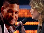 'I need you to perform like it's intimate': Usher goes face-to-face with wannabe as he unveils unique coaching techniques on The Voice