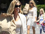 'I eat grilled cheese and ice cream!' Denise Richards steps out in volumising neutral colours after defending her skinny frame