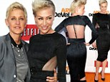 She's all mine! Ellen DeGeneres beams as wife Portia de Rossi shows off her svelte figure in black frock at premiere party