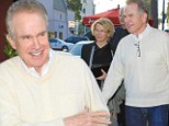 Still going strong after 21 years! Warren Beatty and Annette Bening smile on romantic dinner date