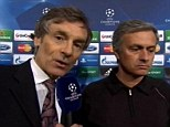 Blunder: Mourinho appeared poised to announce his return to Chelsea when ITV cut him off