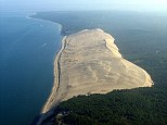 Sand monster: At 3km long, 500m wide and 100m high, the Great Dune of Pyla, on the west coast of France, is the tallest of its kind in Europe