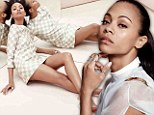 'I worship men': Zoe Saldana says she 'still believes in love' as she shows off her legs in sleek new photo shoot