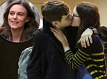 Keira Knightley passionately greets her fiance James Righton of the Klaxons as she meets him at a French airport ahead of her reported wedding this weekend