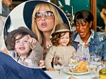 Make a wish! Rachel Zoe and her precious son Skyler are all smiles at they step out to toast their nanny Rusty's birthday