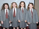 Double standards: Matilda stars, from left, Bailey Ryon, Milly Shapiro, Oona Laurence, and Sophia Gennusa have been ruled out of being nominated for a Tony Award