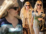 They're the best of friends: Sienna Miller and her mother Jo hold hands as they head to lunch in New York