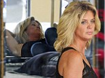 Don't fall asleep! Rachel Hunter makes herself comfortable as she shops for a new mattress