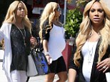 Tamar Braxton was spotted in West Hollywood, California on Wednesday shopping for baby clothes