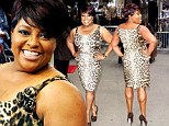 The View's Sherri Shepherd slips into leopard print dress to show off her muscular legs as she promotes diet book